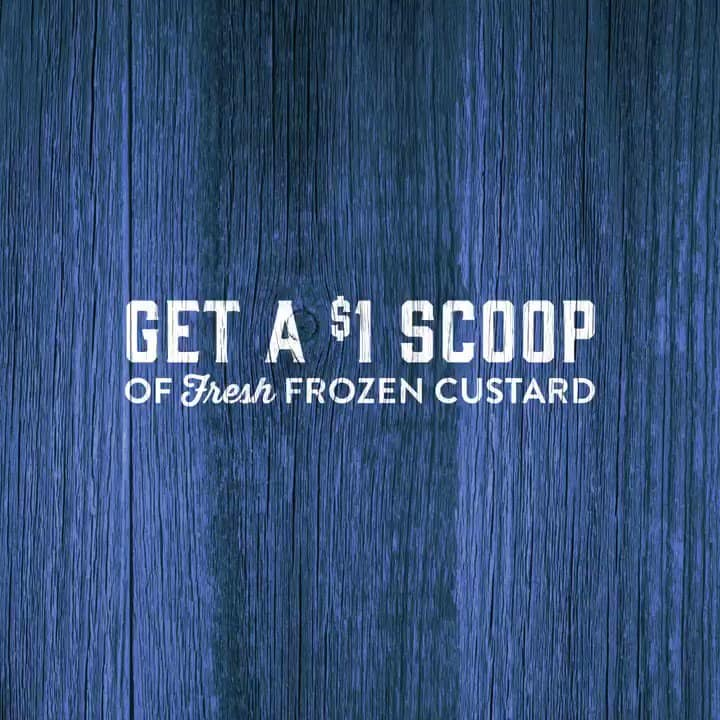 Culver's Restaurants - $1 Scoop of Frozen Custard for Today (5/3)