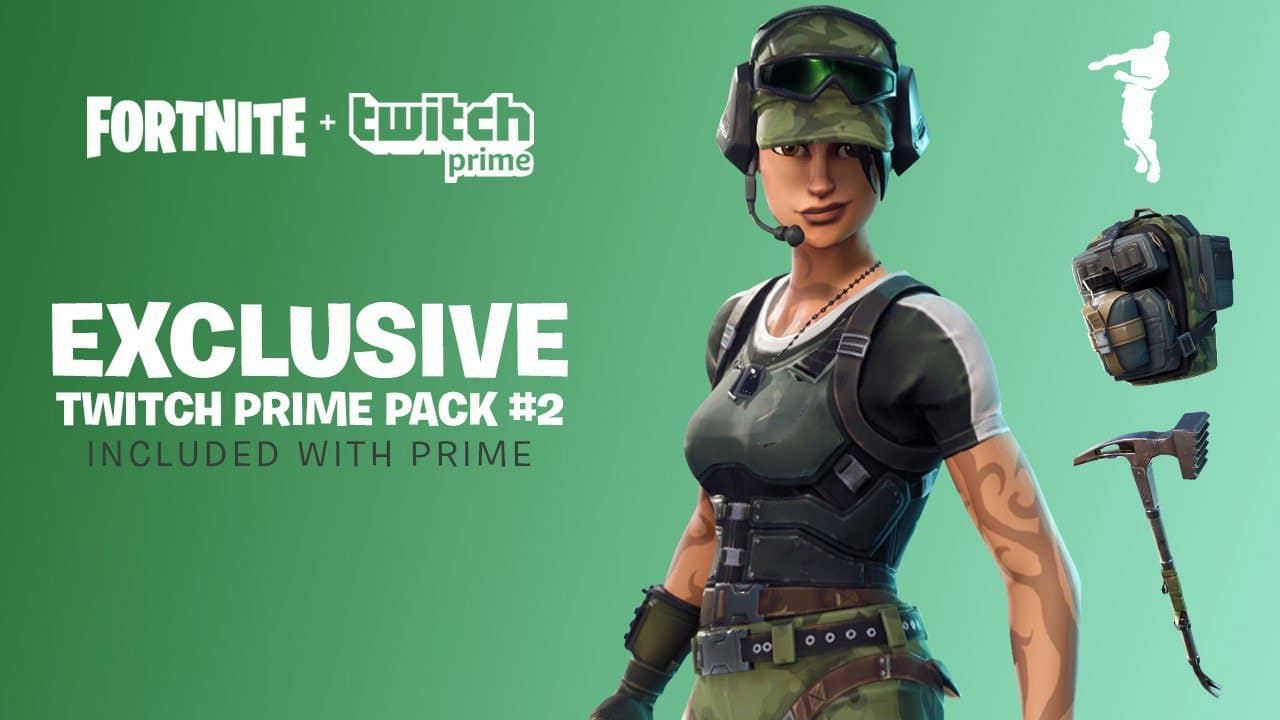 Twitch Prime Members: Fortnite Twitch Prime Pack #2 (In-Game Loot) for Free *Available from May 9 – July 10