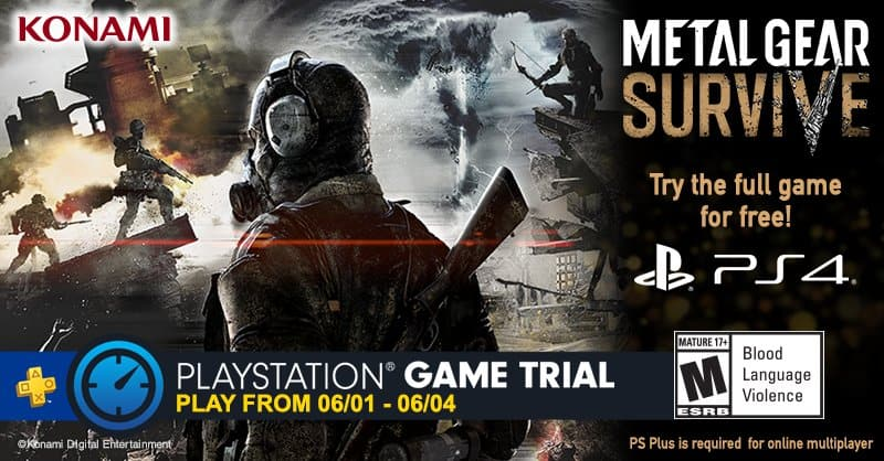 Metal Gear Survive Free Trial (PS4) for PS Plus Subscribers *June 1 - 4