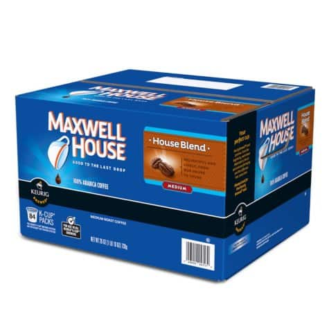 Sam's Club: 84-Count Maxwell House Coffee K-Cups (House Blend) for $19.81 + Free Shipping