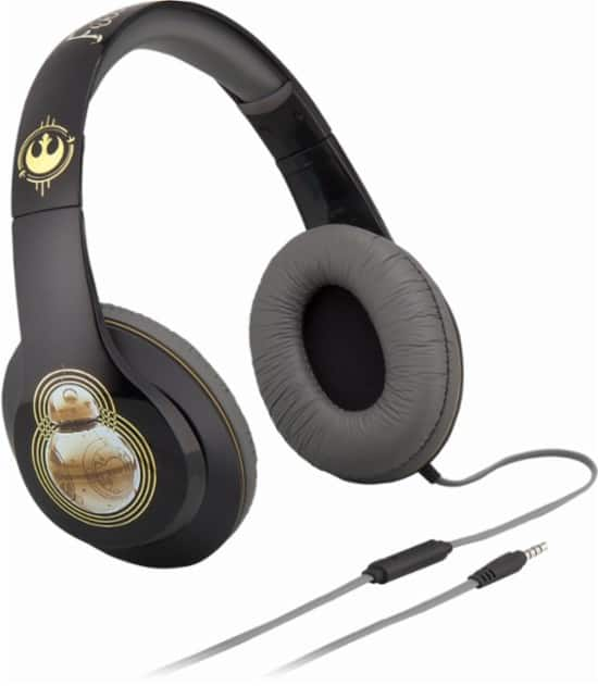 iHome Kids' Star Wars Wired Over-The-Ear Headphones w/ Mic (3 styles) for $9.99 each