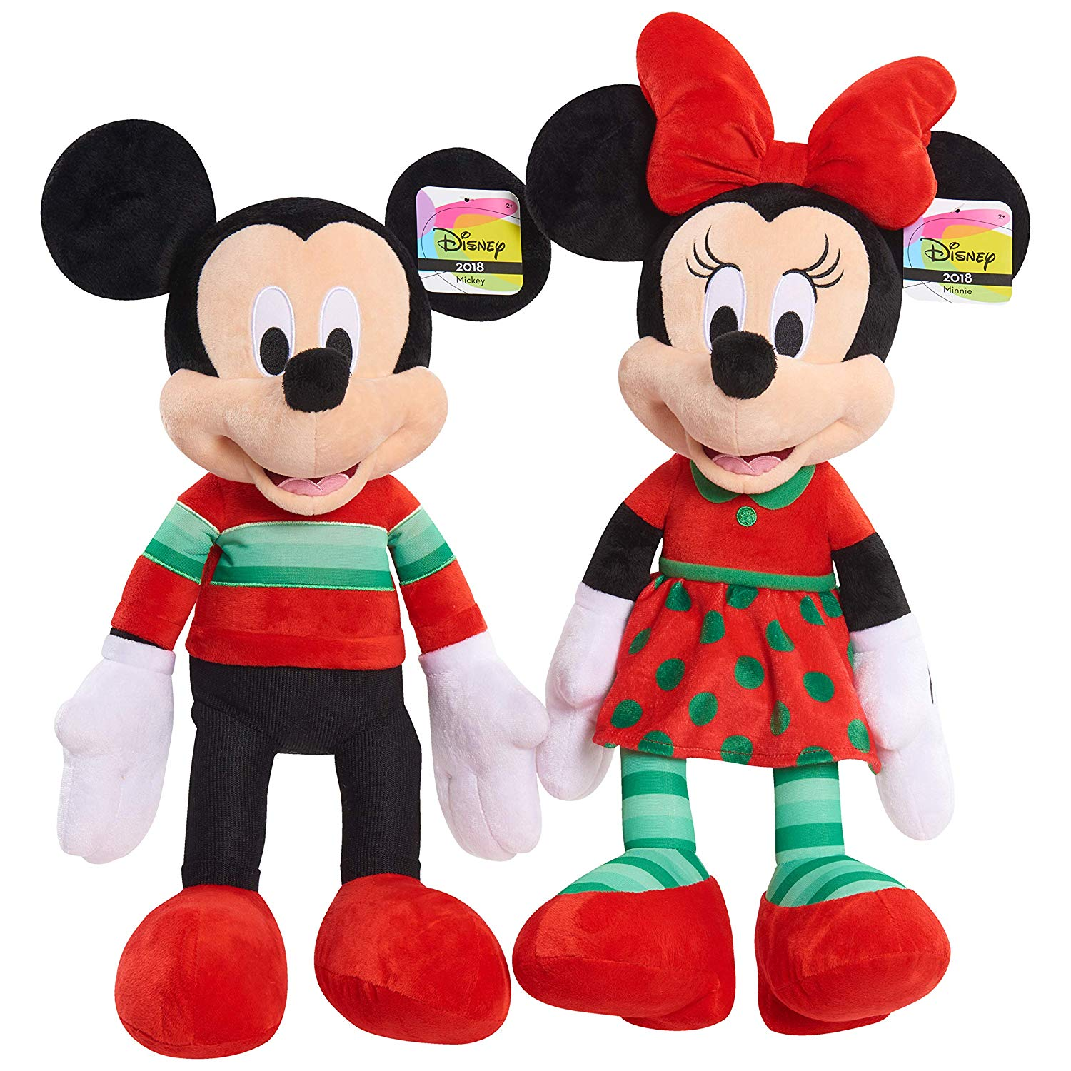 5 For A Disney Mickey Or Minnie Mouse Holiday 2018 Plush W