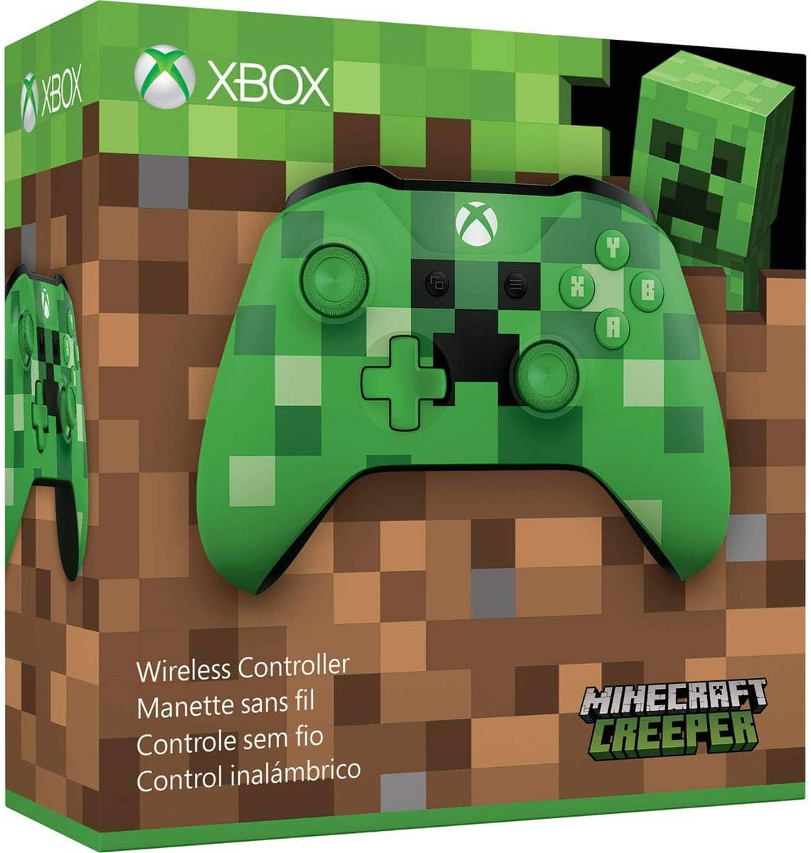 Microsoft Xbox One Bluetooth Wireless Controller (Black, Blue, or Minecraft Creeper Green) for $39.91 + Free Shipping