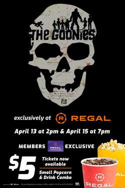 Regal Cinemas: The Goonies Movie Ticket - Slickdeals net