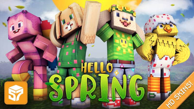 Minecraft Hello Spring Skin Pack (Nintendo Switch, Xbox One, Windows 10, Android, & iOS) for Free (Ends 4/22)