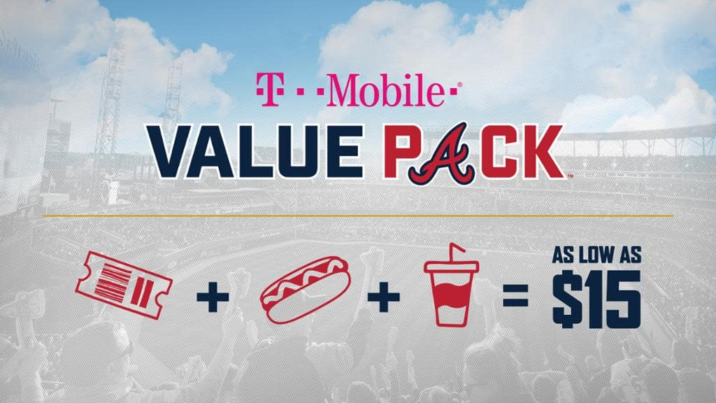 Atlanta Braves Value Pack: Snack + Beverage + Baseball Game Ticket from $15. Also, AWOLNATION & Cold War Kids Post Game Concert on July 6th (Free w/ ticket)