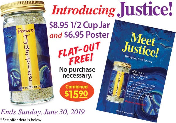 image about Justice Coupons Printable called No cost Penzeys Justice 1/2 Cup Jar Poster (In just-keep) w