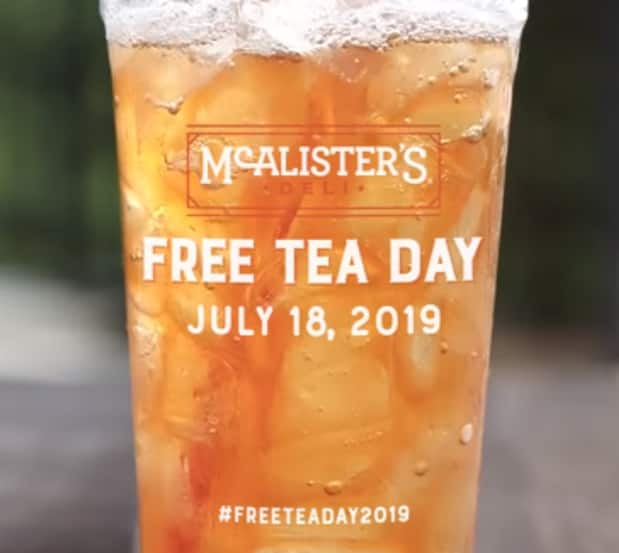 Free Iced Tea from McAlister's Deli (Today Only)