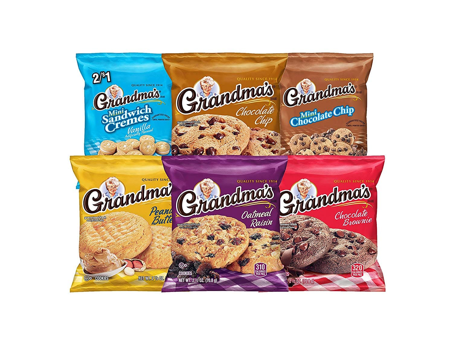 30-Count Grandma's Cookies Variety Pack for $9.23 w/ S&S + Free Shipping