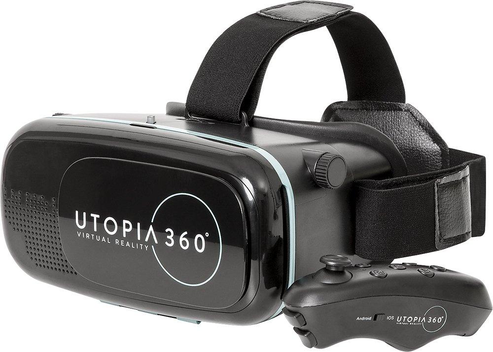 ReTrak Utopia 360 VR Headset with Bluetooth Controller $1.97