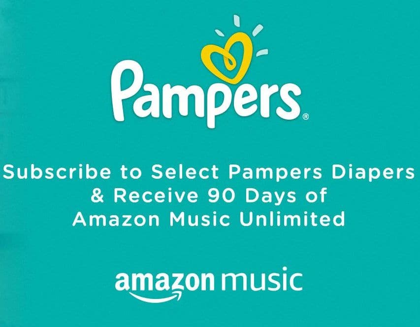 Free 3-Month Amazon Music Unlimited Trial for New Subscribers that Subscribe to Select Pampers Diapers