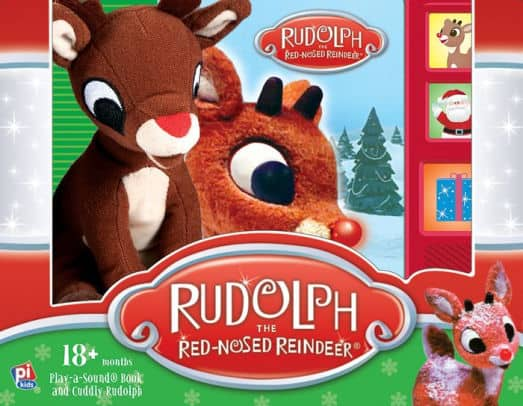 Rudolph the Red-Nosed Reindeer Play-A-Sound Book w/ Plush for $3.74