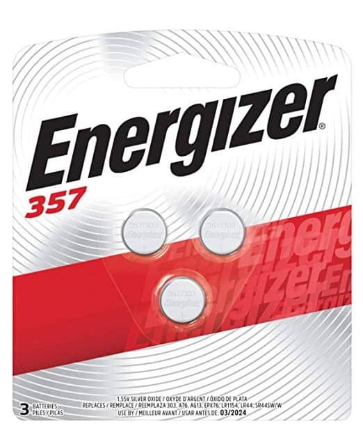 3-Count Energizer 357/303 Battery Pack for $2.37 w/ S&S + Free Shipping