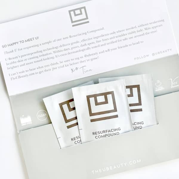 Free U Beauty Resurfacing Compound 3-Day Sample + Free Shipping
