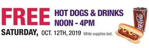 RC Willey Furniutre Store: Free Hot Dogs & Drinks on 10/12 (Noon - 4PM)
