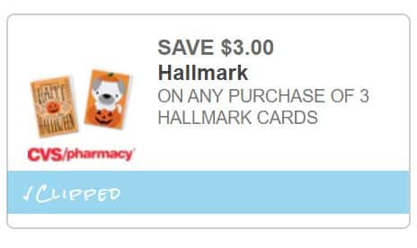 CVS Pharmacy: $3 Off Any 3 Hallmark Greeting Cards (Coupons.com Printable Coupon). Possibly 3 Free $0.99 Cards. YMMV