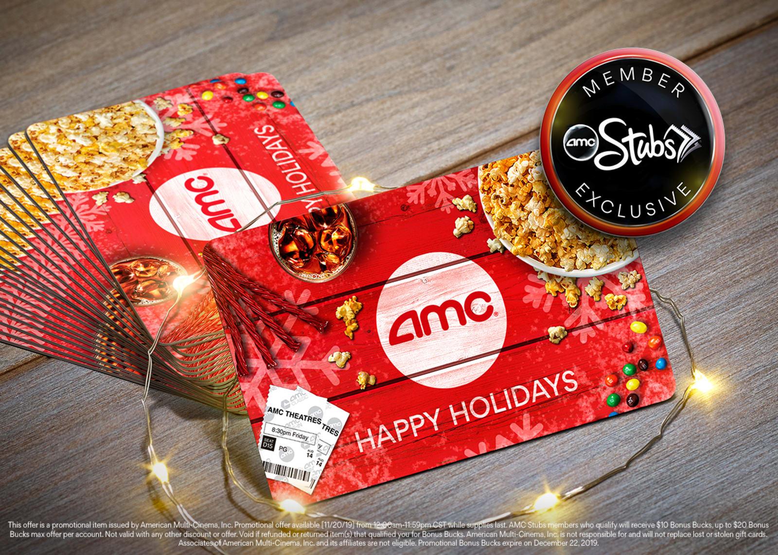 AMC Theatres: Buy $50 AMC eGift Card via app or website, Get $10 in AMC Stubs Bonus Bucks (11/20 Only) *AMC Stubs Member Exclusive Offer