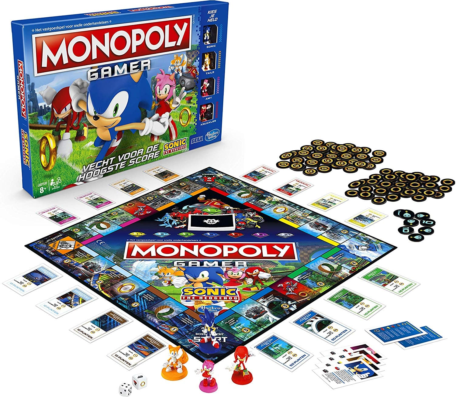Monopoly Gamer Sonic The Hedgehog Edition Board Game for $11.99