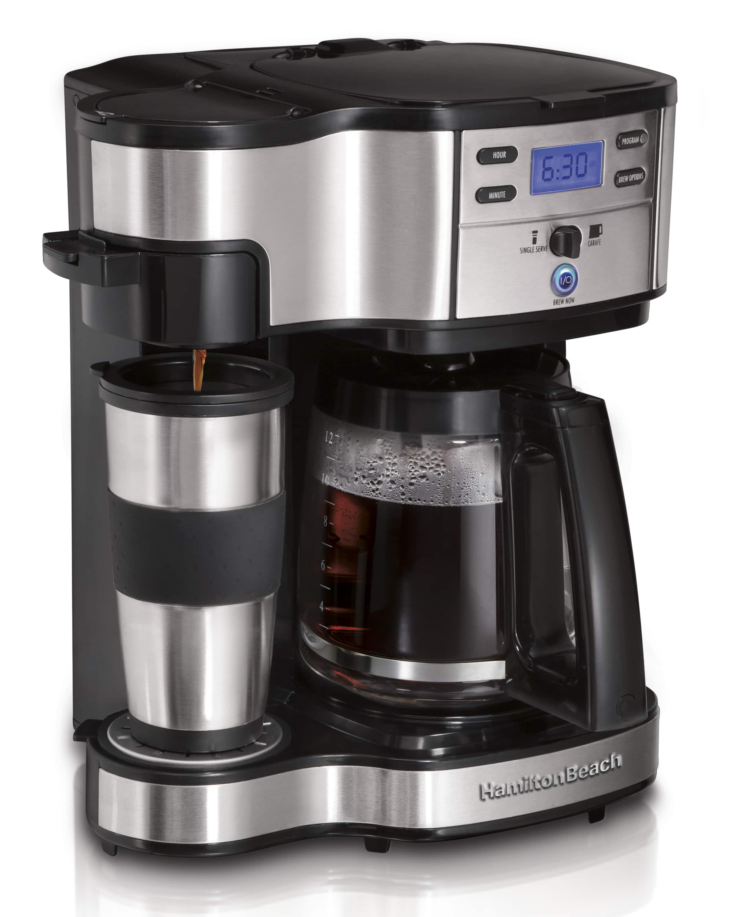 Hamilton Beach 2-Way Programmable Coffee Brewer w/ 12-Cup Carafe (Stainless Steel) $39 + Free S&H