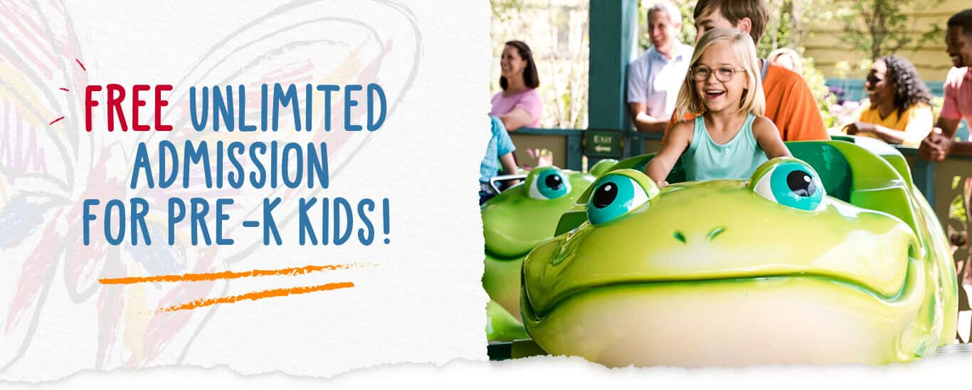 Free Pre-K Imagination Season Pass for Dollywood (for children born in 2015 or 2016)