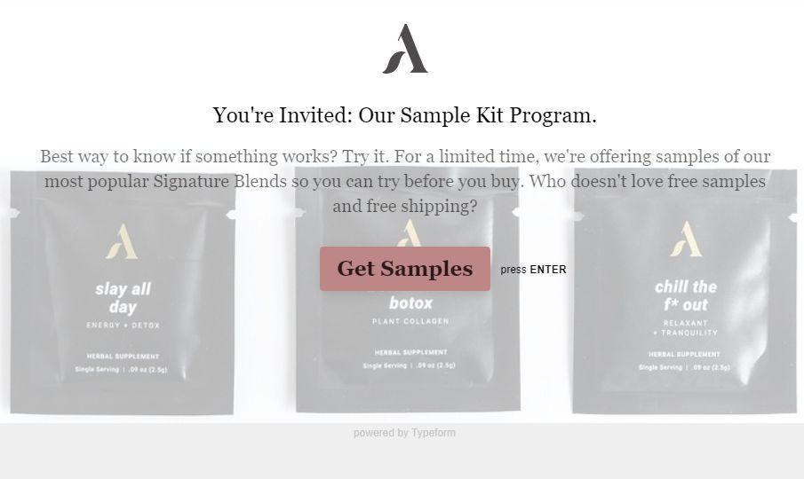 Free Apothokary Signature Blends Sample Kit