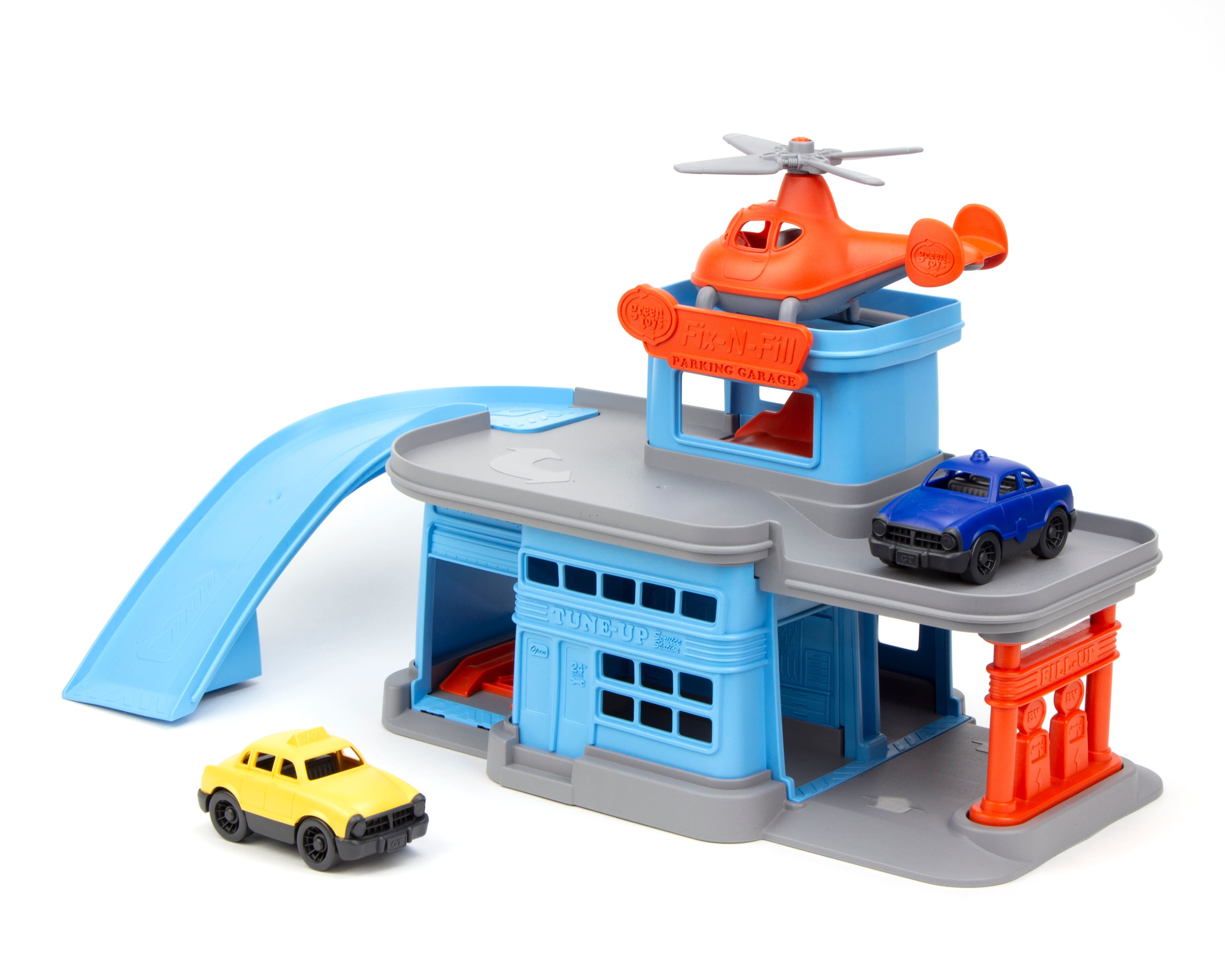 Green Toys Parking Garage w/ 3 Vehicles $19.44