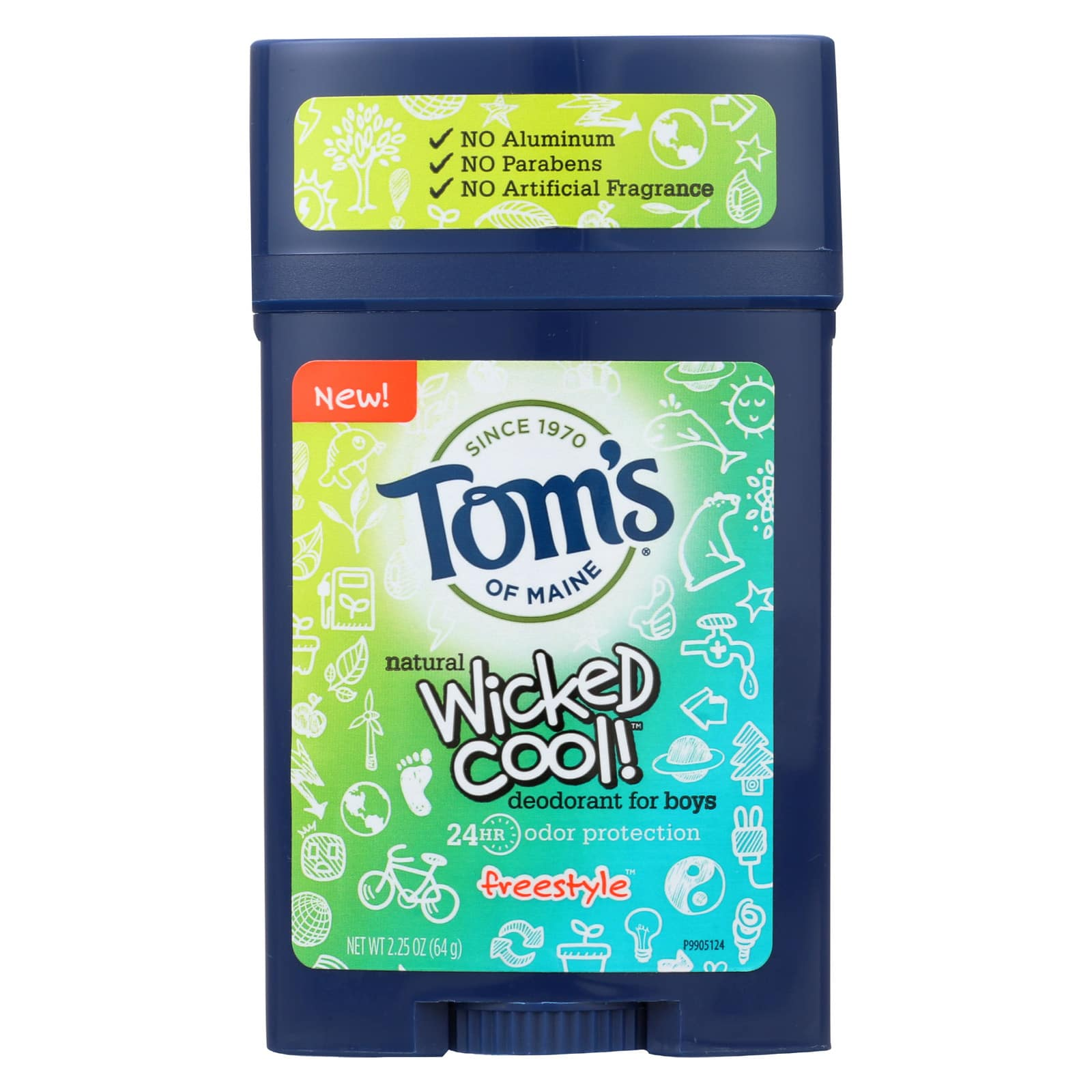 6-Pack of 2.25oz Tom's of Maine Natural Deodorant Stick for Boys (Wicked Cool) for $5.06