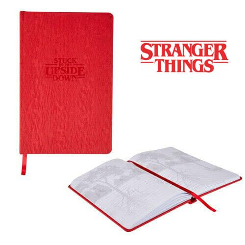 """Stranger Things """"Stuck in the Upside Down"""" Faux Leather Notebook"""