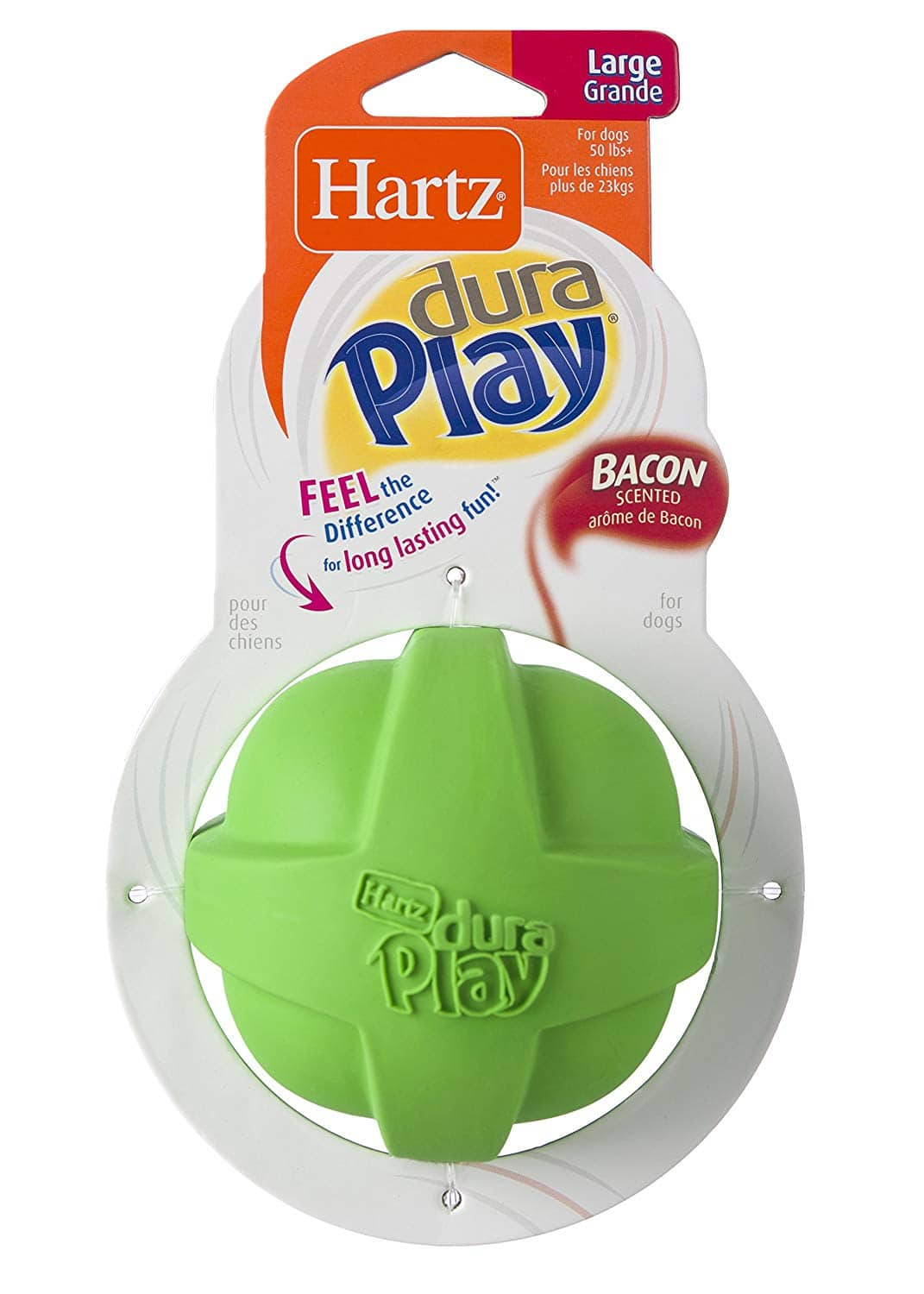 Hartz Dura Play Bacon Scented Dog Toy (Large Ball) $1.75 w/ S&S + Free Shipping