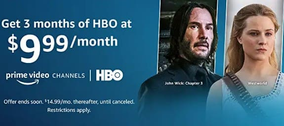 Prime Members: First 3-months of HBO Streaming for $9.99/month