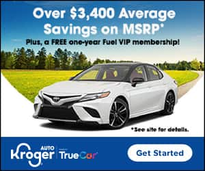 Purchase a vehicle through Kroger Auto (TrueCar), Get Free 1-Year Fuel VIP Membership