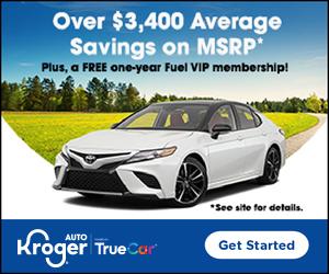 Purchase a vehicle through Kroger Auto (TrueCar), Get Free 1-Year Fuel VIP Membership