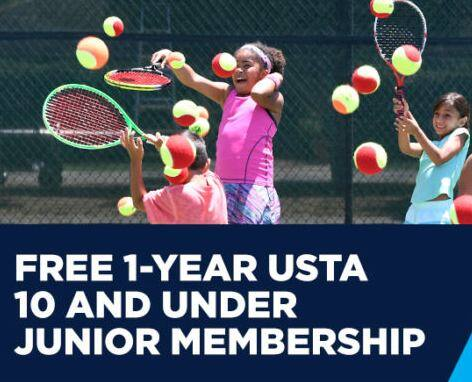 Free 1-Year USTA Junior Member for Kids (10 & Under) *New Members Only