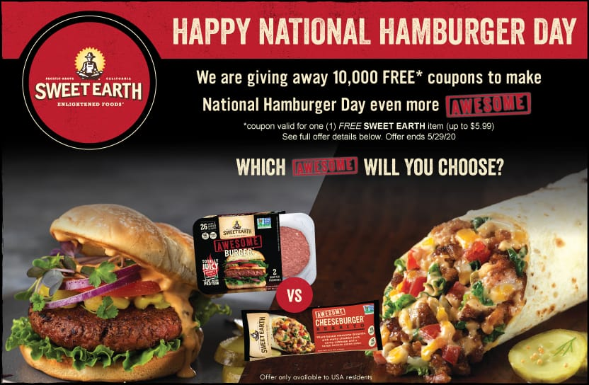 Free Sweet Earth Foods Plant Based Meat Products Coupon (up to $5.99)