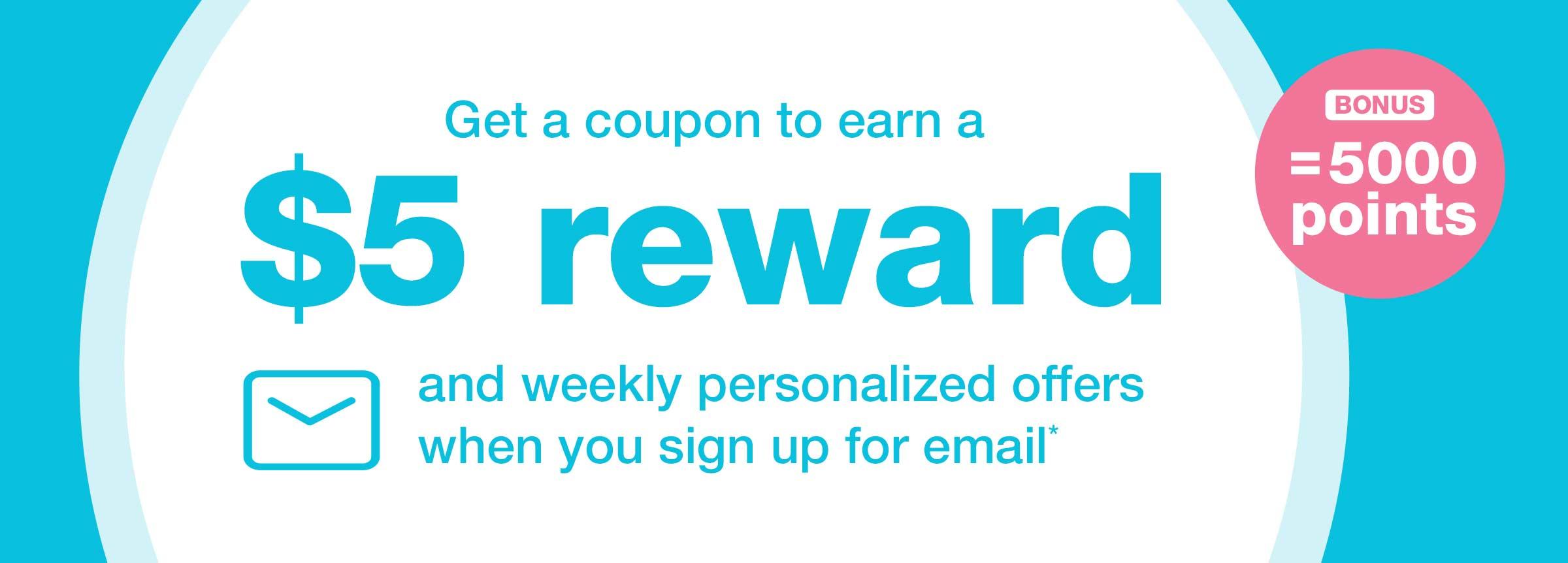 Walgreens Balance Rewards Members: $5 Reward w/ email sign-up