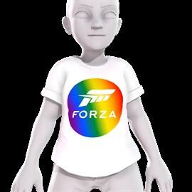 Forza Rainbow Shirt (Xbox One Avatar Shirt) for Free