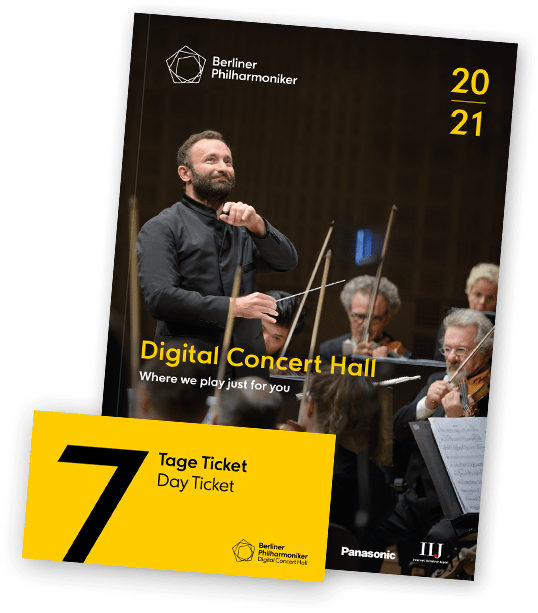 Free 7-Day Ticket & Programme Brochure for the Digital Concert Hall of the Berliner Philharmoniker