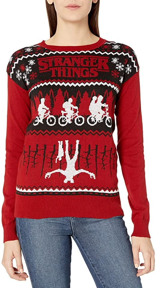 Stranger Things Ugly Christmas Sweaters (X-Large): Men's $5.87, Women's $6.91