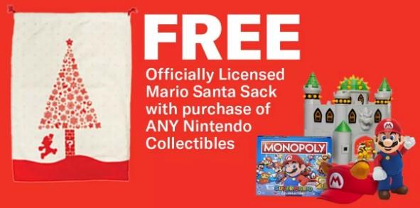 GameStop: Free Super Mario Santa Sack w/ Any Nintendo Collectible Purchase