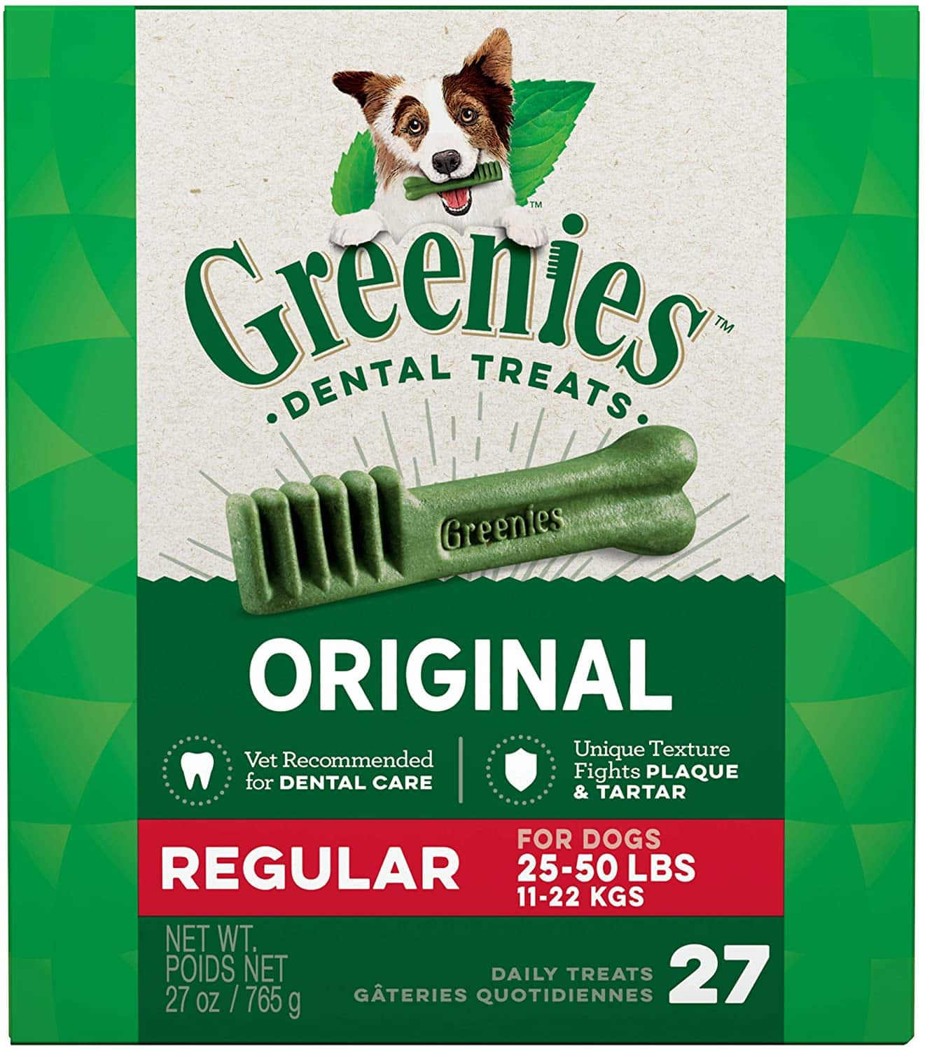 27oz Greenies Original Natural Dental Dog Treats (Teenie, Petite, Regular) for $16.58 w/ Subscribe & Save