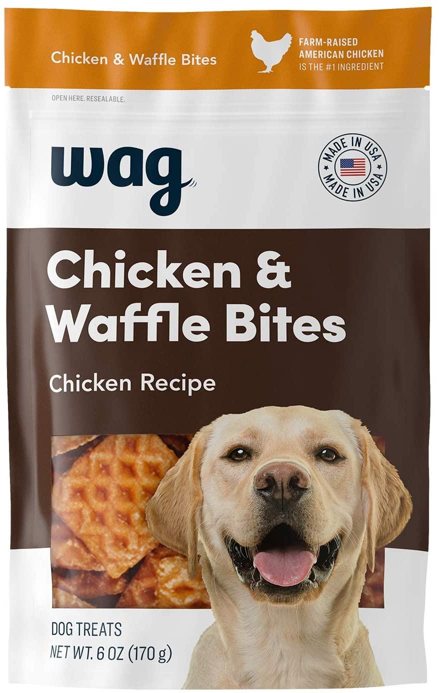 Amazon Brand Wag Dog Treats (Chicken & Waffle Bites): 6-oz Bag $3.29, 12-oz Bag $4.49, 24-oz Bag $7.69 w/ Subscribe & Save