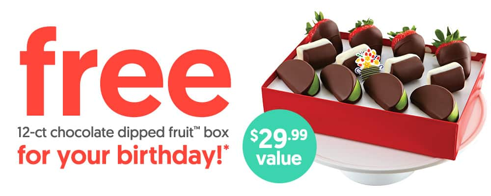 Edible Arrangements: Free 12-Count Dipped Fruit Box ($29.99 value) for Birthday Club Members that spend $29+ each year