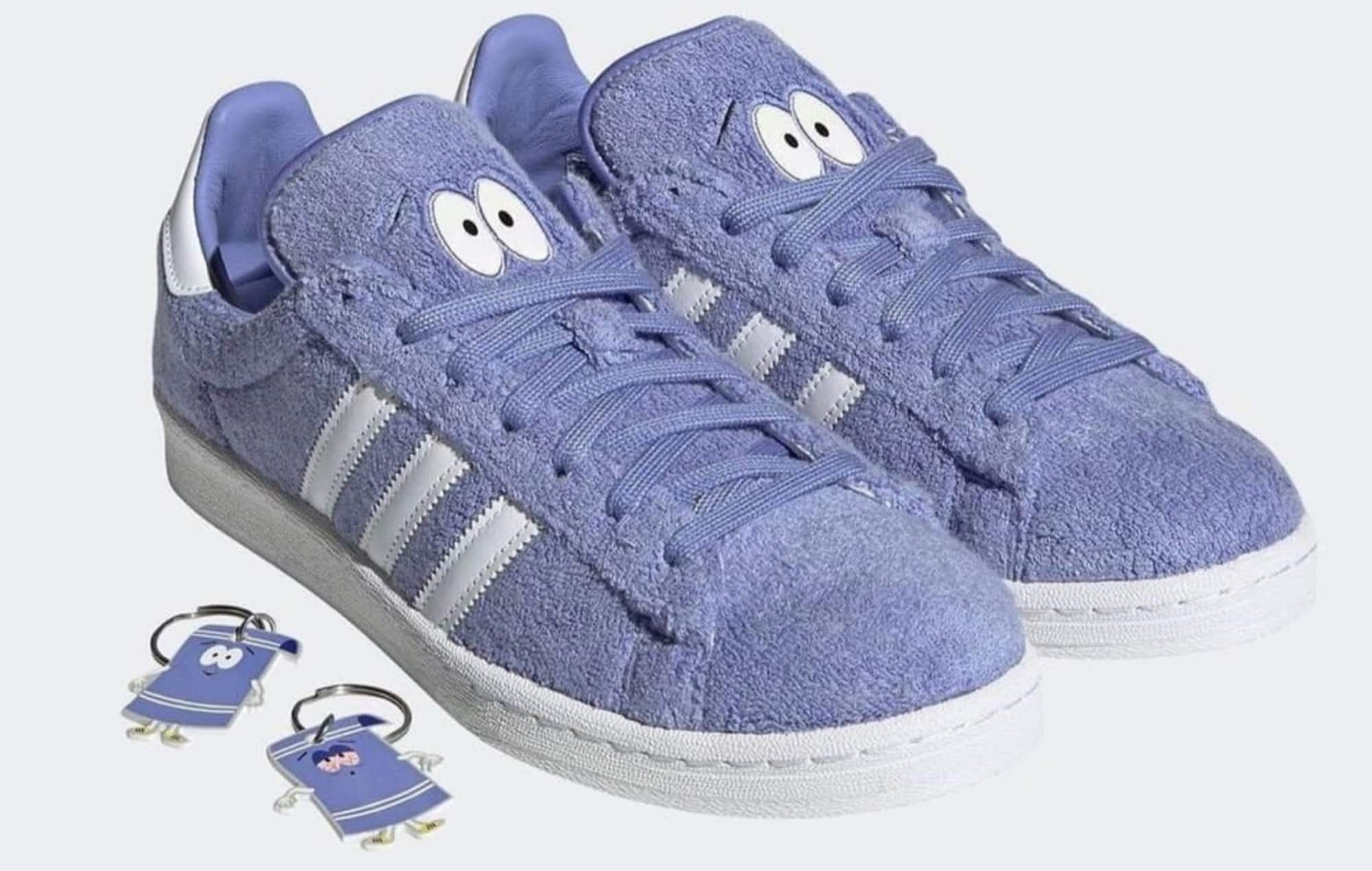 Limited Edition adidas Campus 80s South Park Towelie Shoes + Keychains for $100 (Raffle on 4/20)