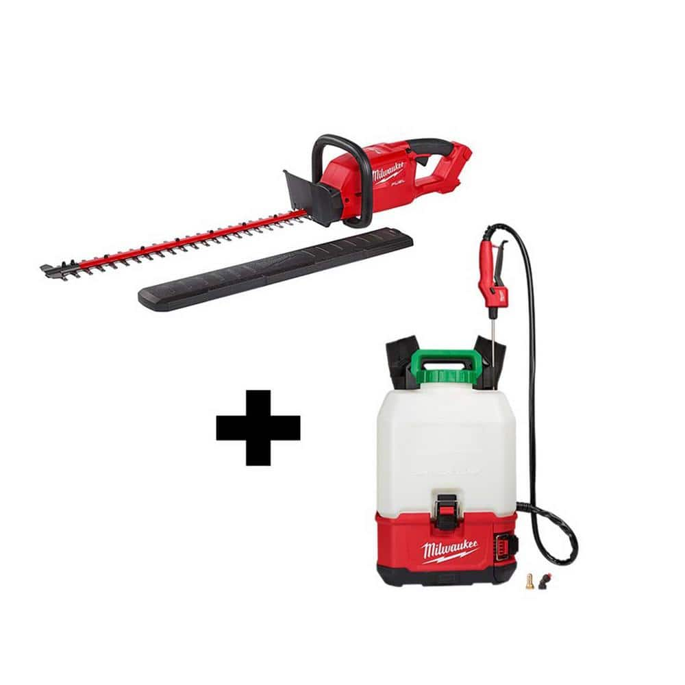 M18 18-Volt Lithium-Ion Cordless Switch Tank Backpack Pesticide Sprayer and FUEL Hedge Trimmer Combo Kit $368.00