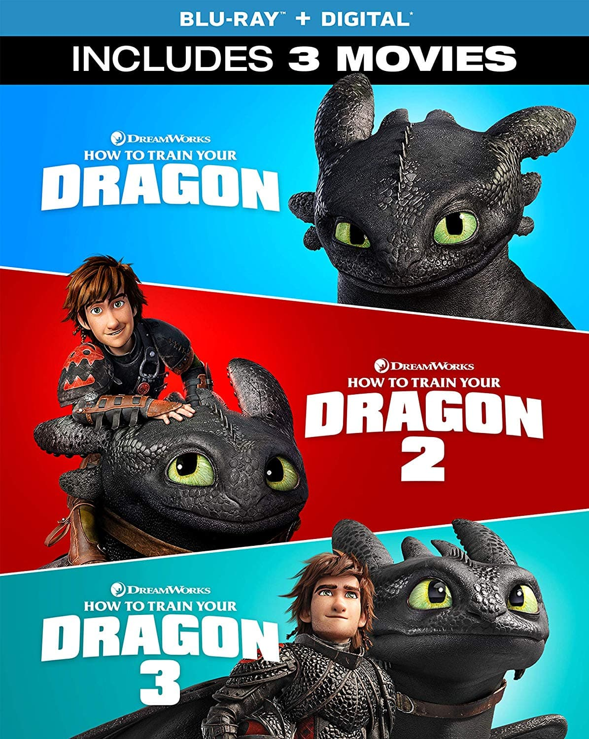 How To Train Your Dragon: 3-Movie Collection ($24.99, 50% off)