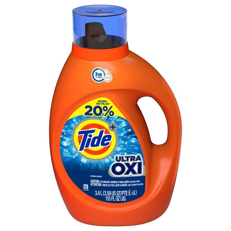 Lowe's: Tide Liquid Detergent LQ2X HE Ult Oxi 115 oz Bonus $7.16 YMMV (Save 40%)