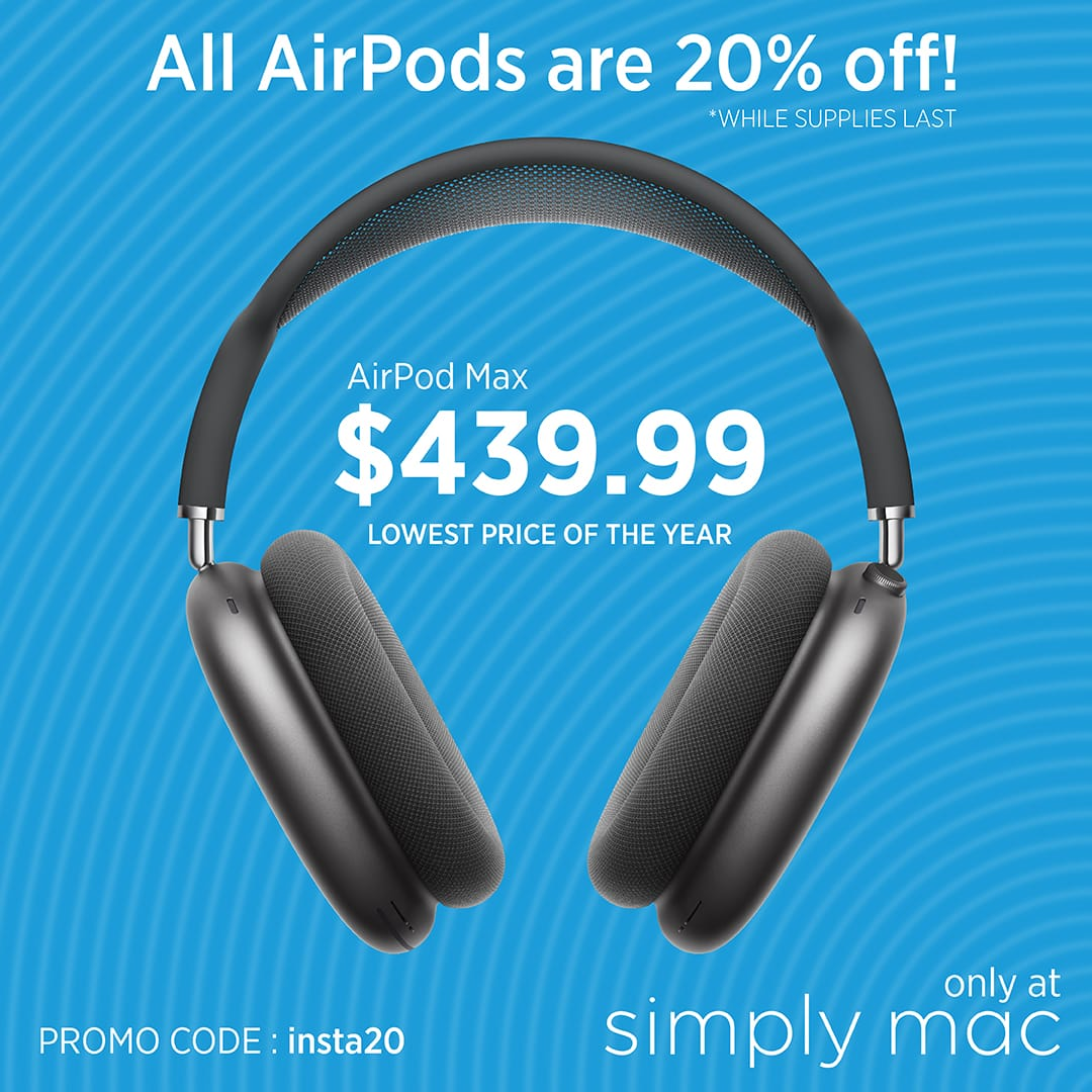 AirPods Max $439.99 w/ Free Shipping at simplymac.com