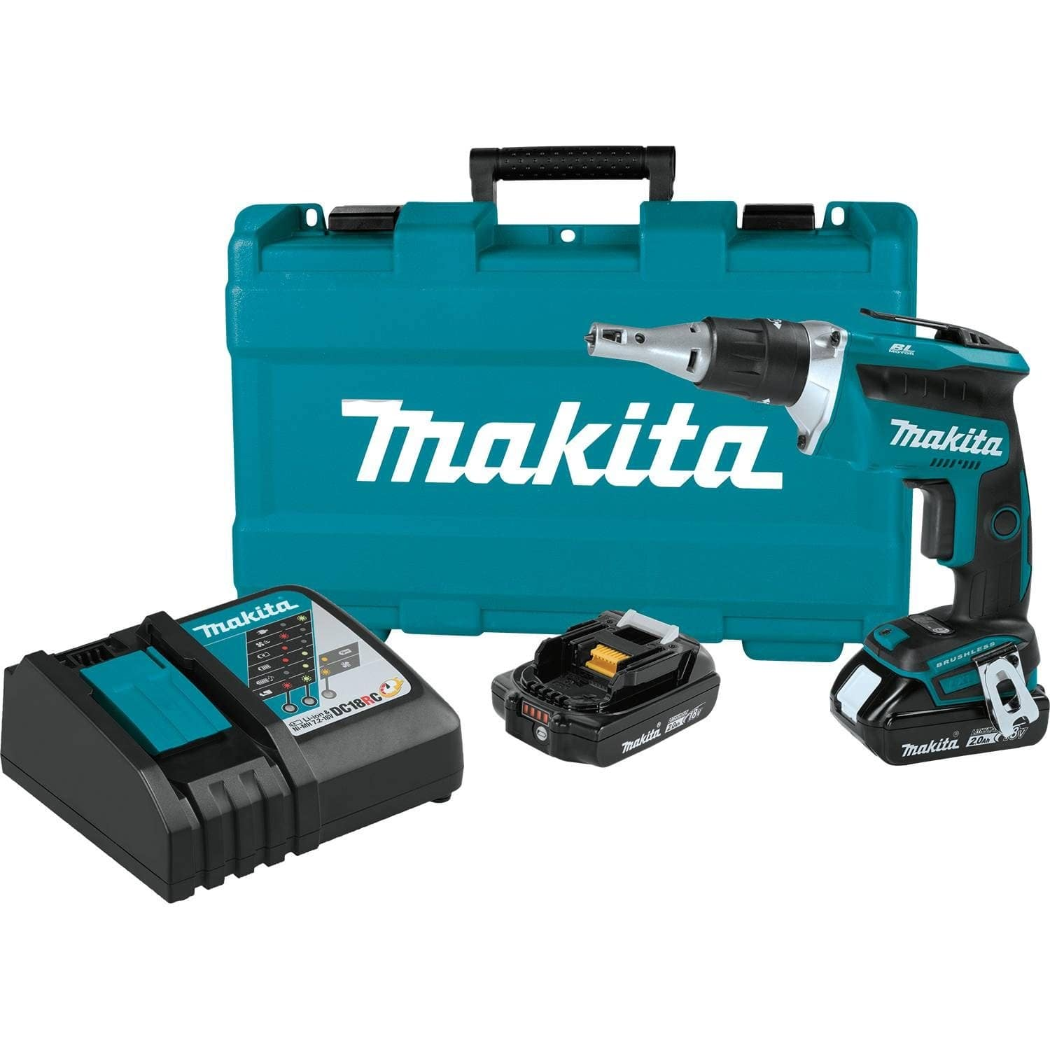 Makita XSF03R 18V LXT Lithium-Ion Brushless Cordless Drywall Screwdriver Kit (x2 2.0Ah batteries, charger and hard case) + free shipping $140