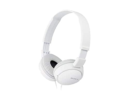 Sony ZX Series Wired On-Ear Headphones, White MDR-ZX110 - $8.97