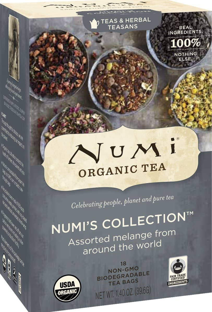 Numi Organic Tea, Numi's Collection - Assorted Full Leaf Tea and Teasan Teabags, 18-Count Box (Pack of 6) from Numi $6.60 / Add-on, plus tax